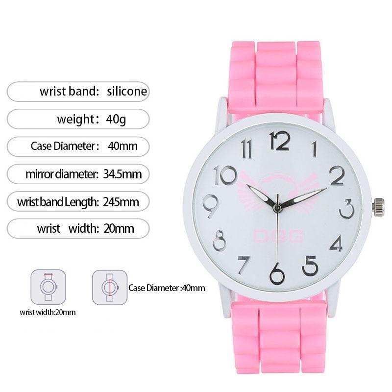 New Fashion Girl Quartz Jelly Silicone Watches Woman Wristwatch Sports Watch Casual Ladies Watch Quartz Wristwatches Clock LB