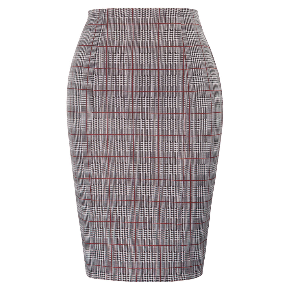 70d84d6cc Talla grande Oficina señoras falda alta cintura golondrina Gird patrón  caderas-envuelto Bodycon ...