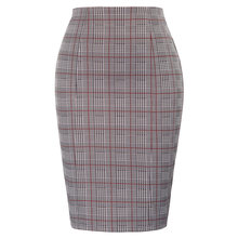 plus size office ladies skirt High Waist Swallow Gird Pattern Hips-Wrapped Bodycon skirt classic fashion mini Pencil Skirt(China)