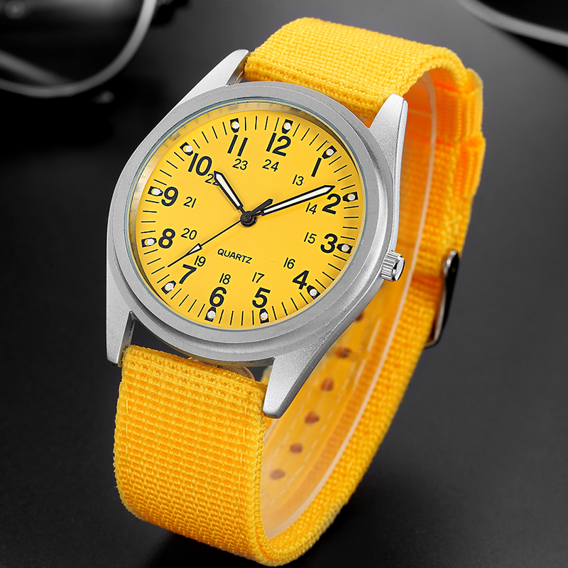 09a2b2f232d2a2 2018 Best Selling Watch Fashion Casual Boys Girls Students Nylon Strap Sports  Watches Men Women Luminous Watch 24 Hours Clocks