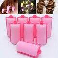 HOT 16/24Pcs Magic Soft Foam Sponge Hair Curler Rollers Cushion Pear Flower Curls Hair Home DIY Hair Styling Tools Hairdressing