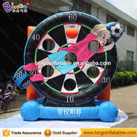 Hot outdoor games Inflatable football shoot game / inflatable football darts /inflatable soccer kick games for Kids N Adults