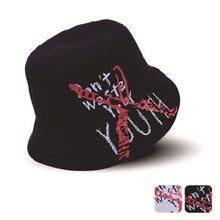 acd730f71ad Fashion Boonie Flat Fishman Hat Japanese Men Women Bucket Hats Harajuku Embroidery  Letter Hip Hop Fishing