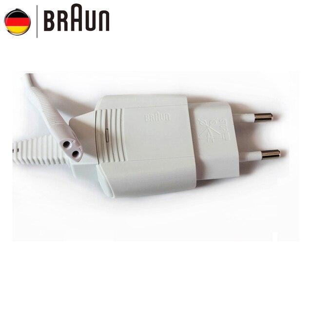 Braun 5497 Wit Scheerapparaten Charger Europa Oplaadkabel Ingang 100 240 V Output 12 V IPX4 Waterdicht Gloednieuwe