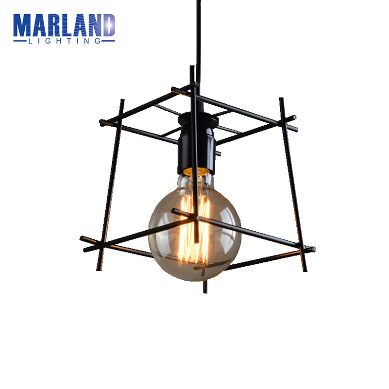 Retro Vintage Lamp Black Industrial Iron Cage Pendant  Lamps Cord Drop Lights Indoor Light For Dining Room Bedroom Office(D5029) industrial pendant light for bedroom vintage lamp white dining room restaurant lamps modern pendant lights cord hanging lighting