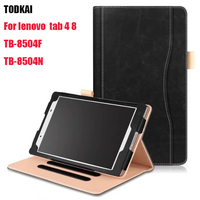 New Stand Smart Case For Lenovo TAB4 8 PU Leather Case For Lenovo TAB 4 8