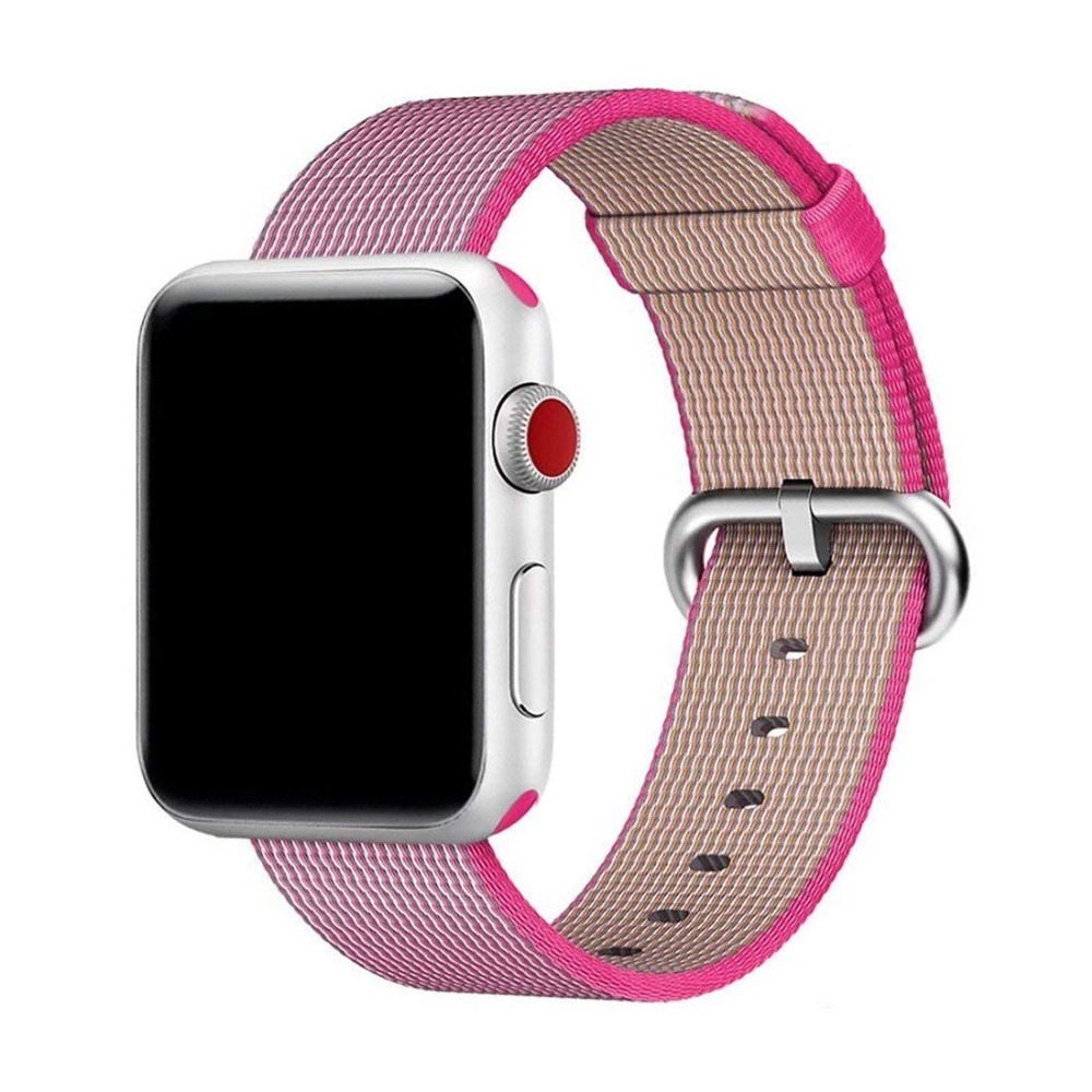 EIMO For apple watch band woven nylon Sport belt 42mm 38mm for iwatch 4 3 2 wrist watch braclet belt fabriclike nylon watchband mu sen woven nylon band strap for apple watch band 42mm 38 mm sport fabric nylon bracelet watchband for iwatch 3 2 1 black