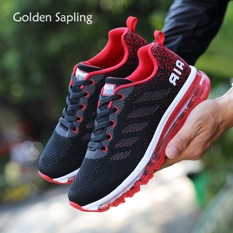 Golden Sapling High Quality Men's Sneakers Soft Cushion Breathable Summer Men Sports Sneaker Retro Fitness Outdoor Tennis Shoes image