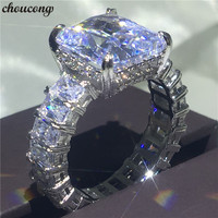 Choucong полное кольцо принцессы из стерлингового серебра 925 пробы большой 6ct AAAAA cz обручальные Обручальные кольца для женщин Свадебные украшен