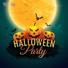 Yeele Halloween Party Moon Pumpkin Horror Bats Photography Backdrops Personalized Photographic Backgrounds For Photo Studio