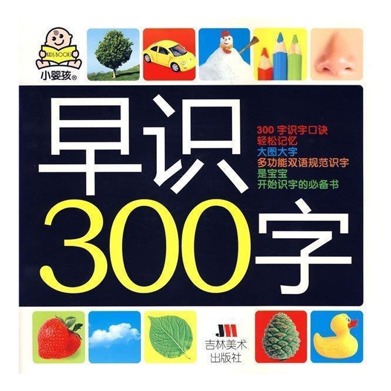 Chinese characters book with 300 big Kanji pictures for baby kids age 2-6 Learning Chinese Hanja ,size 27.8 x 27.8 cm