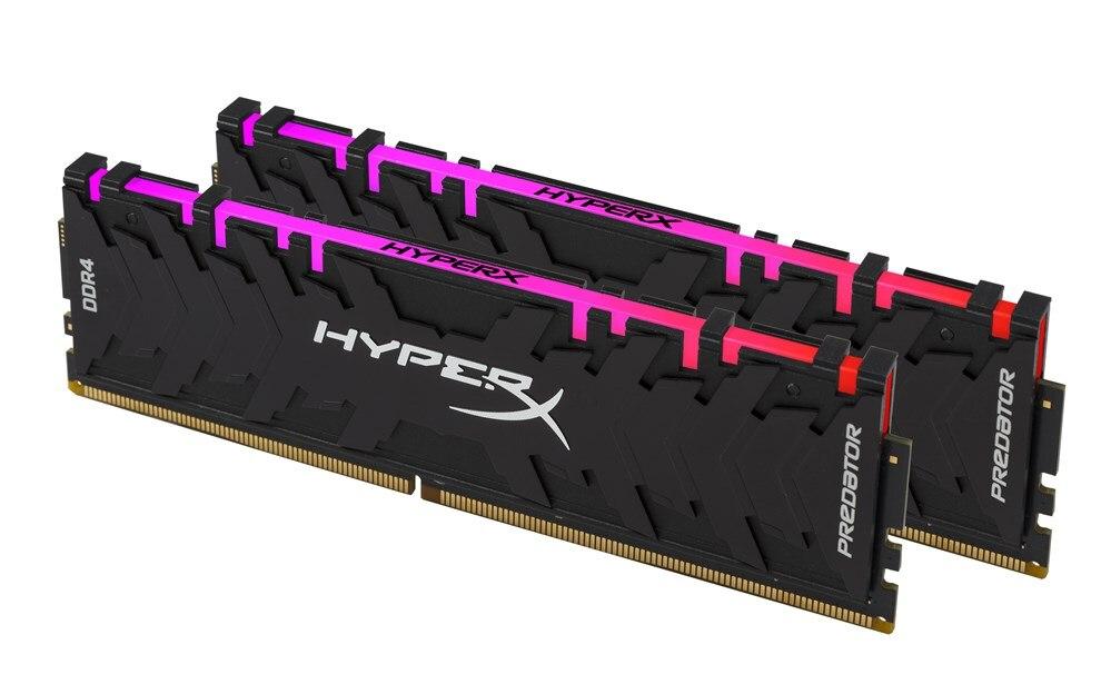HyperX Predator 16 GB 2933 MHz DDR4 RGB, 16 GB, 2x8 GB, DDR4, 2933 MHz, noir