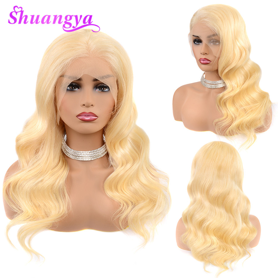 Peruvian Body Wave Remy Hair 13*4 Lace Wig 613 Lace Front Wig Lace Front Human Hair Wig Pre-Plucked With Baby Hair For Women image