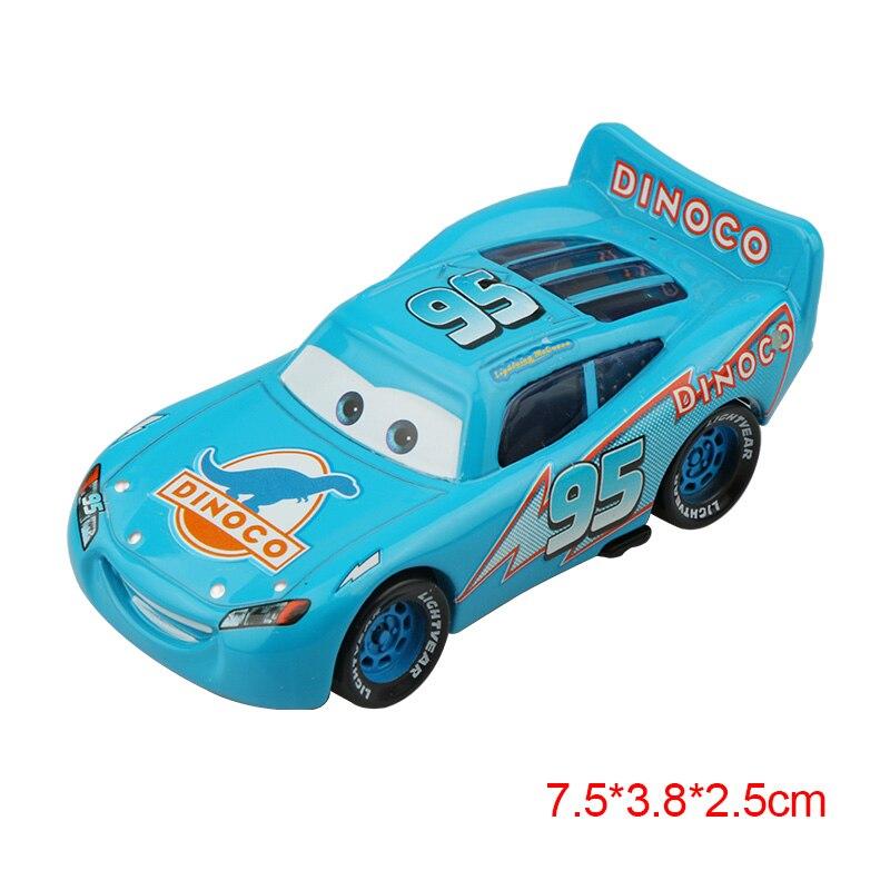 Дисней Pixar Тачки 2 3 Молния Маккуин матер Джексон шторм Рамирез 1:55 литье под давлением автомобиль металлический сплав мальчик малыш игрушки Рождественский подарок - Цвет: McQueen blue