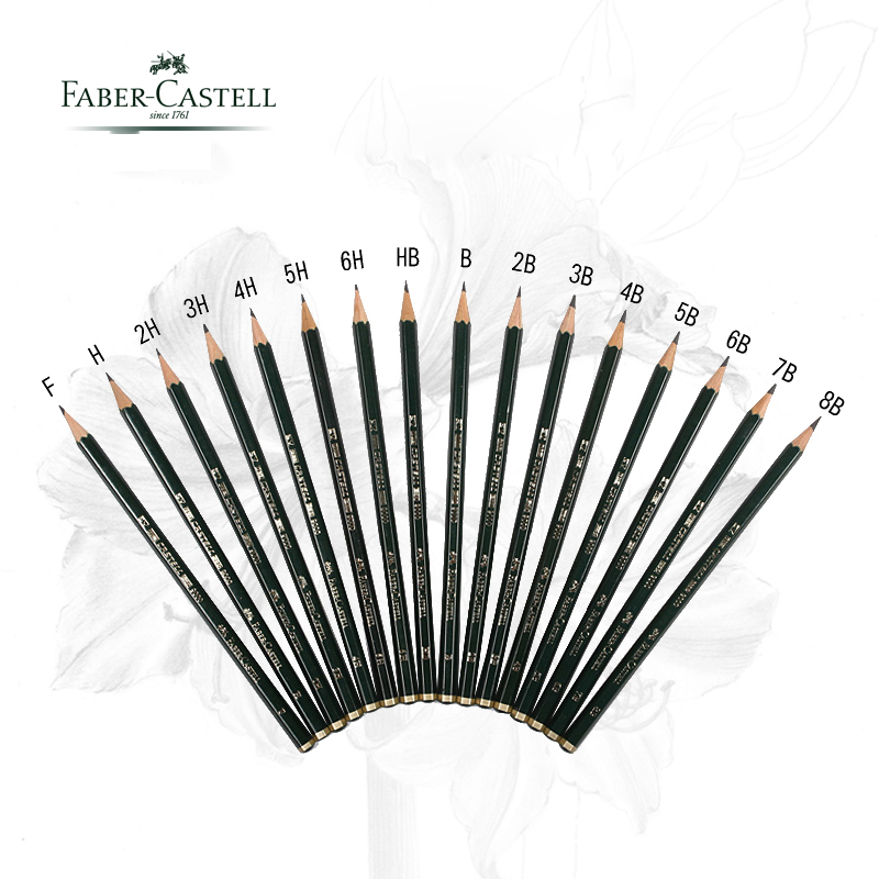 5/16pcs/lot Faber Castell 9000 Design Pencil Art graphite pencils for drawing writing shading sketch Black Lead art supplies faber castell 9000 advanced pencil sketch 12pcs tin set faber castell drawing pencils