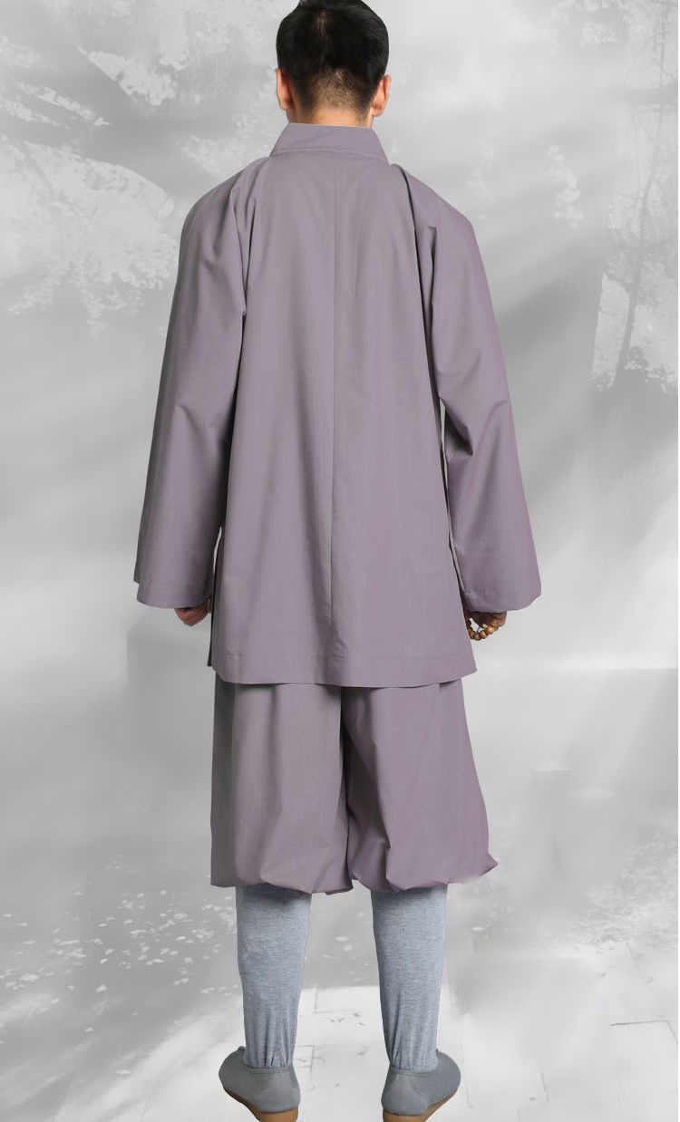 Primavera e Autunno grigio/giallo Buddista monaco shaolin kung fu si adatta alle laici meditazione abbigliamento zen uniformi abiti