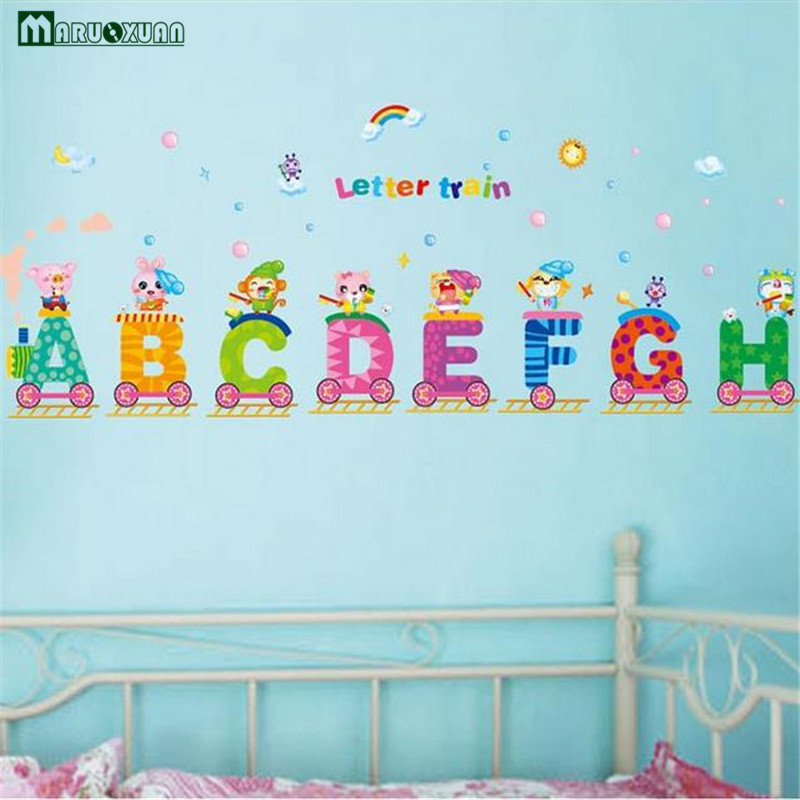 Acrylic Alphabet Letters Removeable Wall Sticker Baby Kid Art Decal Room Decor A
