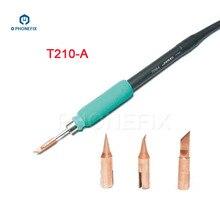 PHONEFIX JBC T210 havya ucu T SK T I T IS konik bıçak bükülmüş konik özel değiştirilebilir küçük kaynak demir ucu