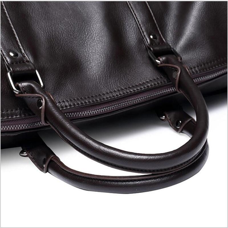 Ringad pingvin mode läder mäns rese väska bagage väska manar bär - Väskor för bagage och resor - Foto 4
