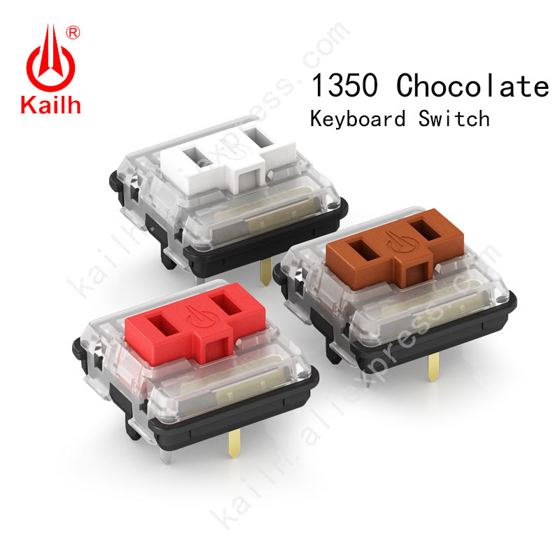 Kailh low profile Switch 1350 Chocolate  Keyboard  Switch  RGB SMD kailh Mechanical Keyboard white stem clicky hand feeling пандора браслет с шармами