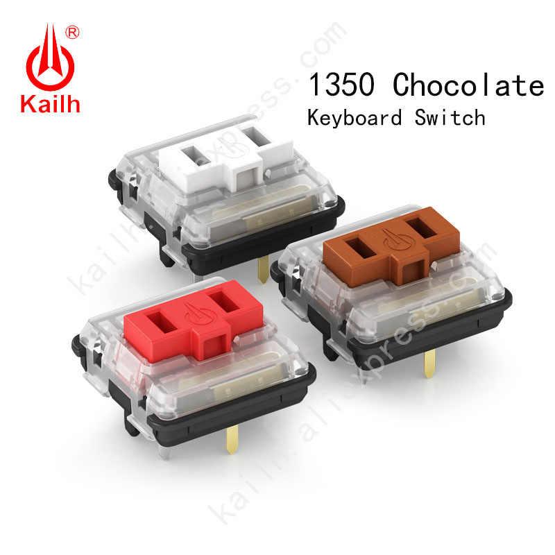 Kailh Interruptor de baixo perfil 1350 De Chocolate Teclado clicky Interruptor RGB SMD kailh Teclado Mecânico branco stem sentimento da mão
