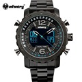 INFANTRY Men Watch Top Luxury Luminous Military Day Date Sport Watch Alarm Clock Full Steel Relogio Masculino WORLD PEACEKEEPERS