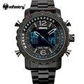 Infantry hombres reloj top luxury militar luminoso día fecha alarma reloj del deporte del reloj de acero llena masculino relogio del mantenimiento de la paz mundial