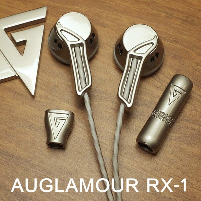 AUGLAMOUR RX-1 De alta fidelidad en el auricular del oído De cabeza plana macho audífonos Fone De Ouvido Auriculares De Metal completo auricular Auriculares écouteur