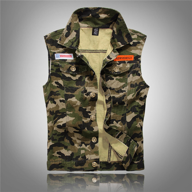 Camouflage Denim   Tank     Tops   Men Jeans Vest Casual Hip Hop Slim Fit   Tank   2018 Fashion Streetwear   Tops   Clothes for Men S056