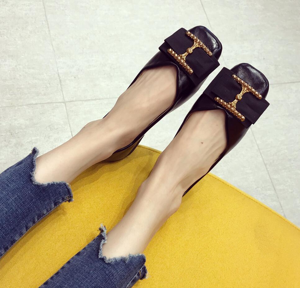 Zapatos Las Ballet Planos Mocasines Genuino Casual Negro Moda Cuero rojo De On Mujer Slip 2019 Mujeres Calzado qHx5BwSqt