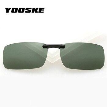 0136df8978 YOOSKE los hombres gafas de sol polarizadas las mujeres conducción de la visión  nocturna gafas hombre mujer Clip en gafas de sol Anti-UVA UVB