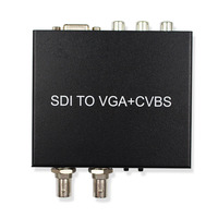 SDI SD SDI HD SDI 3G SDI To VGA CVBS AV SDI Converter Support 1080P For