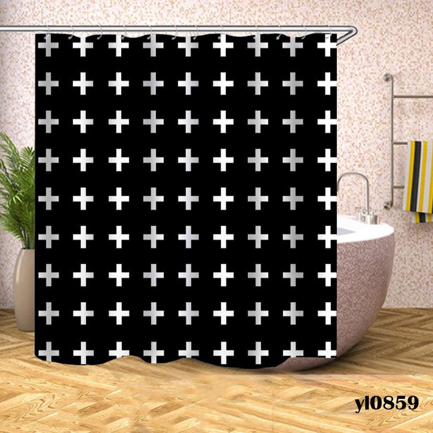 Geometric Shower Curtains Waterproof Bath Curtain For Bathroom Bathtub Large Wide Bathing Cover Europe Home Hotel Rideau De Bain in Shower Curtains from Home Garden