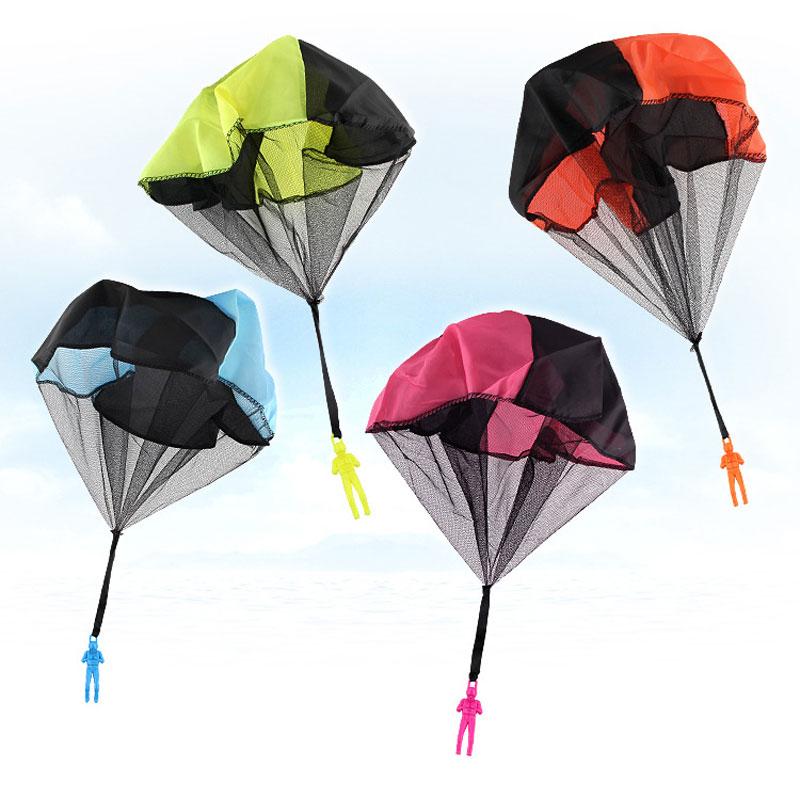 Hand Throw Mini Play Warrior Parachute Beach Toy Children Outdoor Recreation Sports Children Education Parachute Game