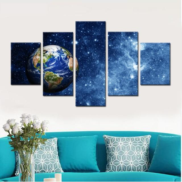 Planet Earth Leinwand Set Wand Modularen Bilder Für Wohnzimmer Bilder  Abstrakte Gemälde Für Wohnzimmer Wand Drop