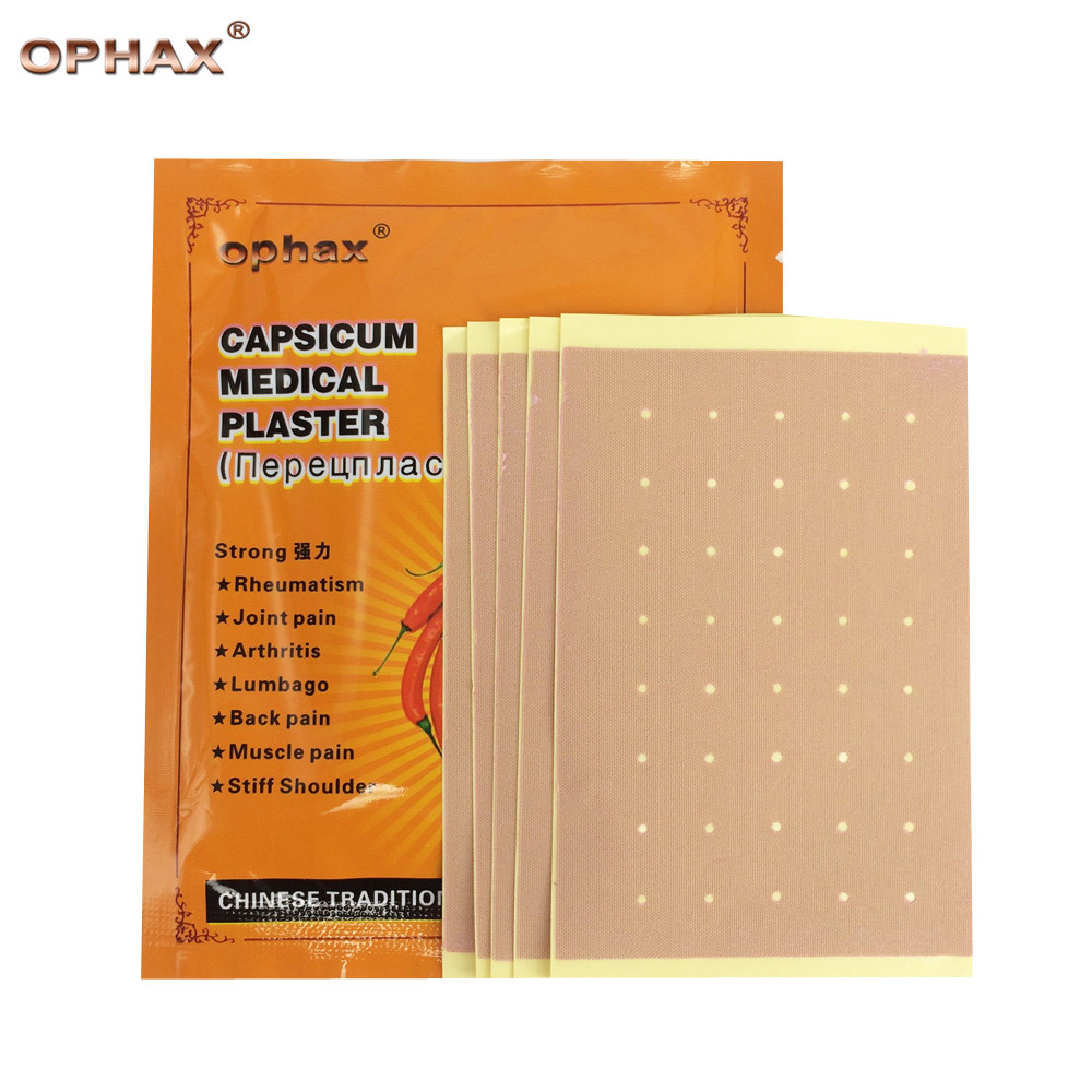 OPHAX 10pcs/2bas medical pain relief patch for joint ,back pain rheumatism muscle arthritis capsicum plaster massage ointment 64pcs medical plaster for joints rheumatoid arthritis plaster medical patches muscle treatment back massage relieve pain k00408