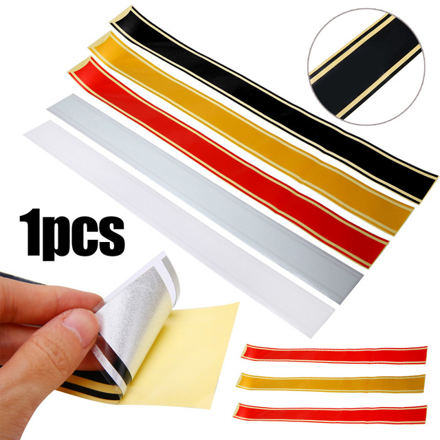 1PC 50*5CM Cafe Racer Motorcycle Fuel Oil Tank Cover Sticker Retro Protector Decal Strip 5 Colors  For Honda