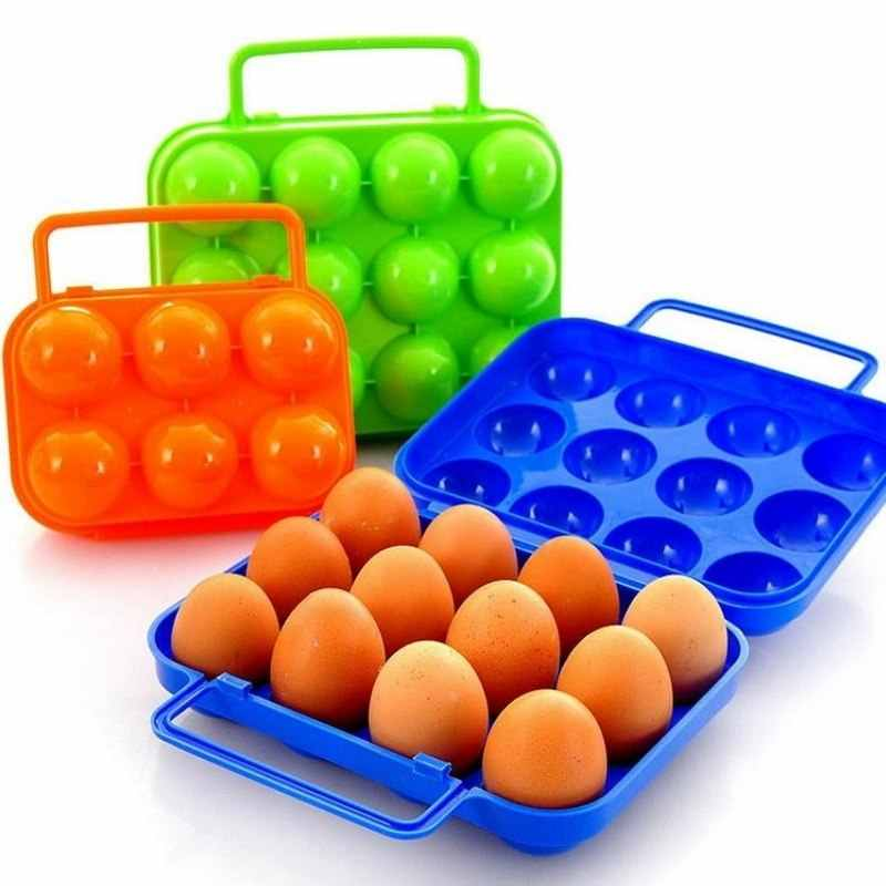 Loozykit Portable Kitchen Convenient Container Egg Storage Boxes Container Hiking Outdoor Camping Carrier For Egg Case Box Home