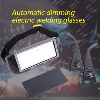 Solar Powered Auto Darkening Welding Glasses Eyes Protector Welding Helmet Goggles Safety Mask for Welding Laser Safety Glasses welding mask best optical quality 1 1 1 1 big view 100 73mm 3 94 2 87 respirator safety hat compatible ce solar welding helmet