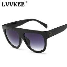 trend Fashion Ladies Big Frame Cat Eye Sunglasses Woman Flat