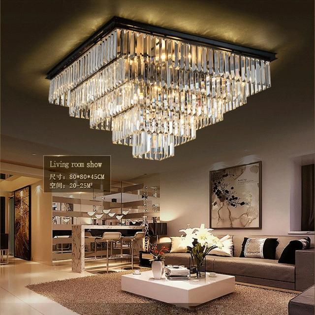Laimaik Crystal Led Ceilinglight Large Chandelier Luxury