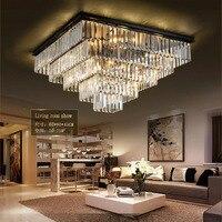Laimaik crystal led ceilinglight большой люстра роскошные хрустальные свет Мода Люстра Crystal Light современный большой люстры