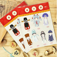2 lots=14pcs bookmarks,Beijing Opera characters,paper souvenir,Pekinese opera roles,Chinese collection,promotion gifts funny toy