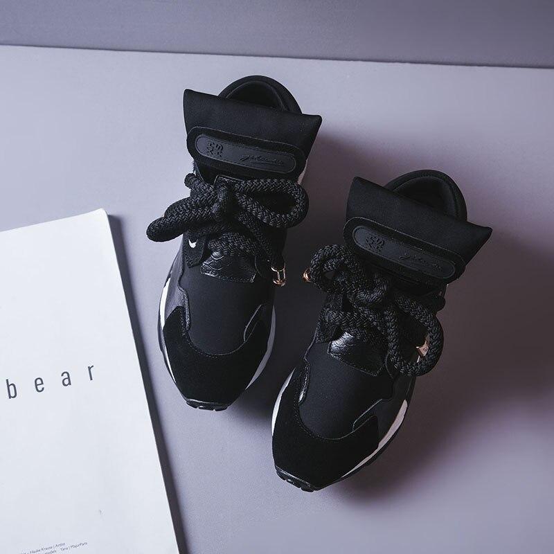 Femmes Printemps Plate Cuir Dropshipping Designer 6 forme 2018 Chaussures Cm multi Sneakers D'été En Noir De Luxe qBdqxtw6
