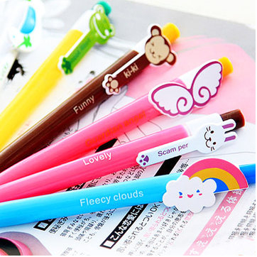 Charitable 2pcs/lot Cute Cartoon Kawaii Novelty Ballpoint Pens Lovely Cat Bird Pen Stationery Free Shipping Office & School Supplies Pens, Pencils & Writing Supplies
