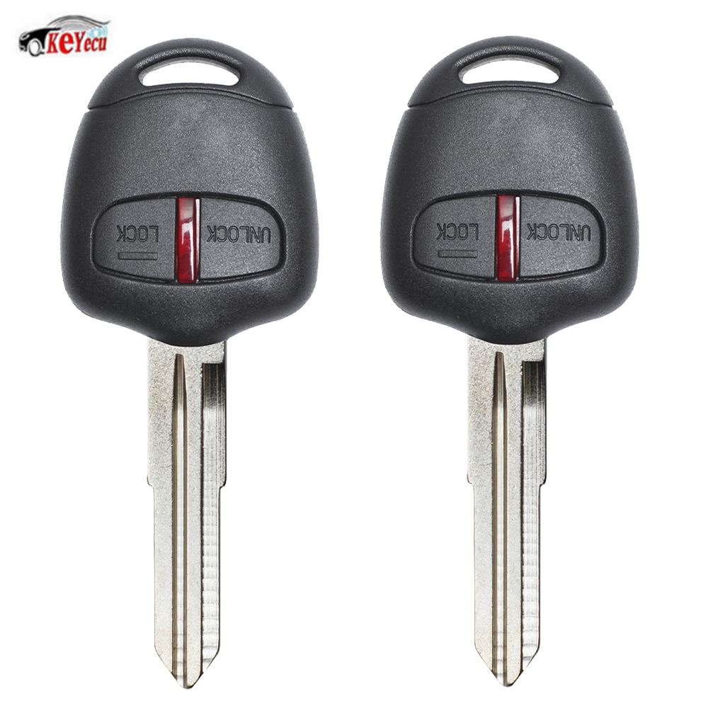 KEYECU 2Pcs/lot <font><b>Replacement</b></font> Remote Car <font><b>Key</b></font> Fob 315MHz ID46 Chip for <font><b>Mitsubishi</b></font> <font><b>L200</b></font> Shogun Pajero Montero Triton with MIT8 Blade image