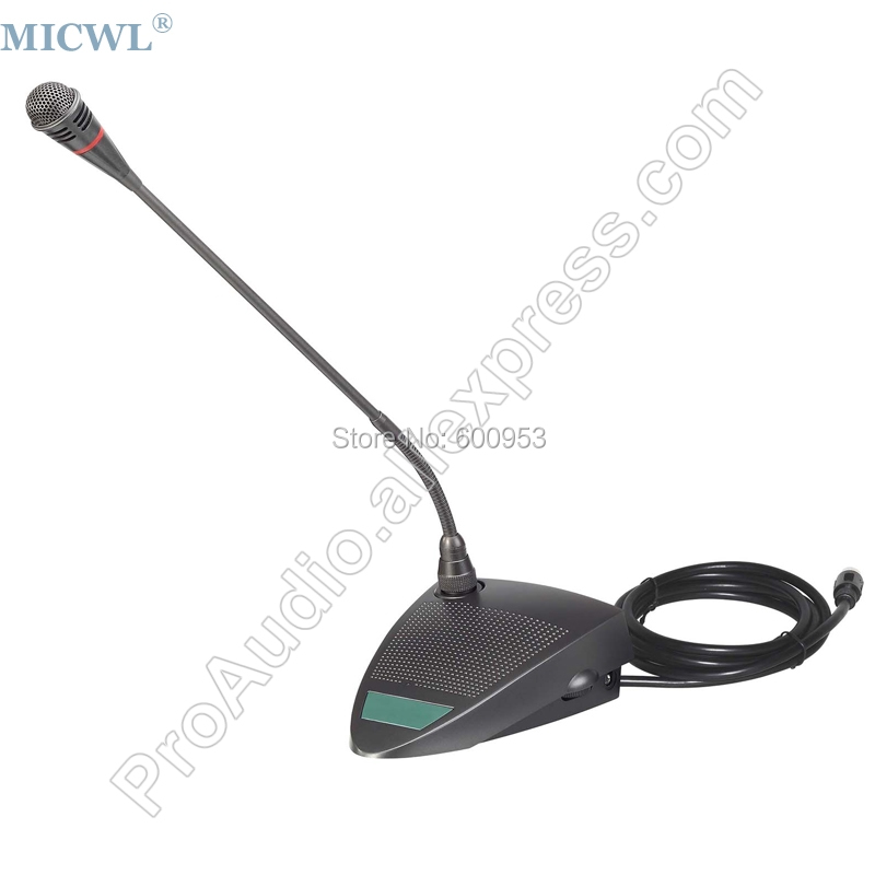 MICWL AU350-06 Wired Desktop Table condenser Gooseneck Conference Meeting Microphone Mic micwl d400 uhf 4 gooseneck table uhf wireless conference microphones digital system for big meeting room