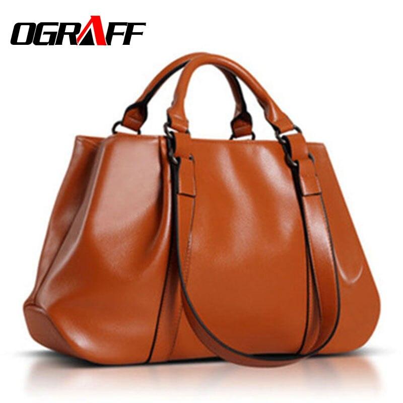 OGRAFF Women bag 2017 women leather handbags famous brands dollar price famous brand designer women messenger bags tote bag
