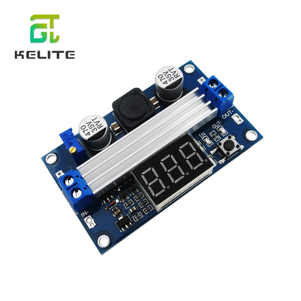 HAILANGNIAO 1pcs 100W DC DC-DC 3~35V To 3.5~35V LTC1871 Booster Step Up Module Converter Regulated Power Supply+VoltMeter