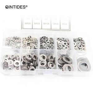 QINTIDES 600 шт./компл. DIN125 M1.6 M2 M2.5 M3 M3.5 M4 M5 M6 M8 M10 плоская шайба простая шайба прокладки набор